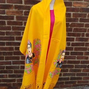 Accessories - NWOT Frida Kahlo ginormous scarf/ shawl